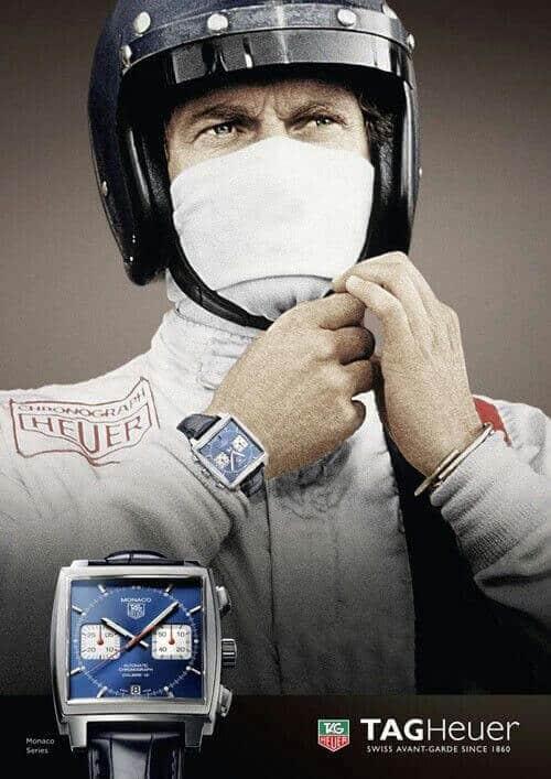 Steve McQueen - Tag Heuer Monaco - Poster